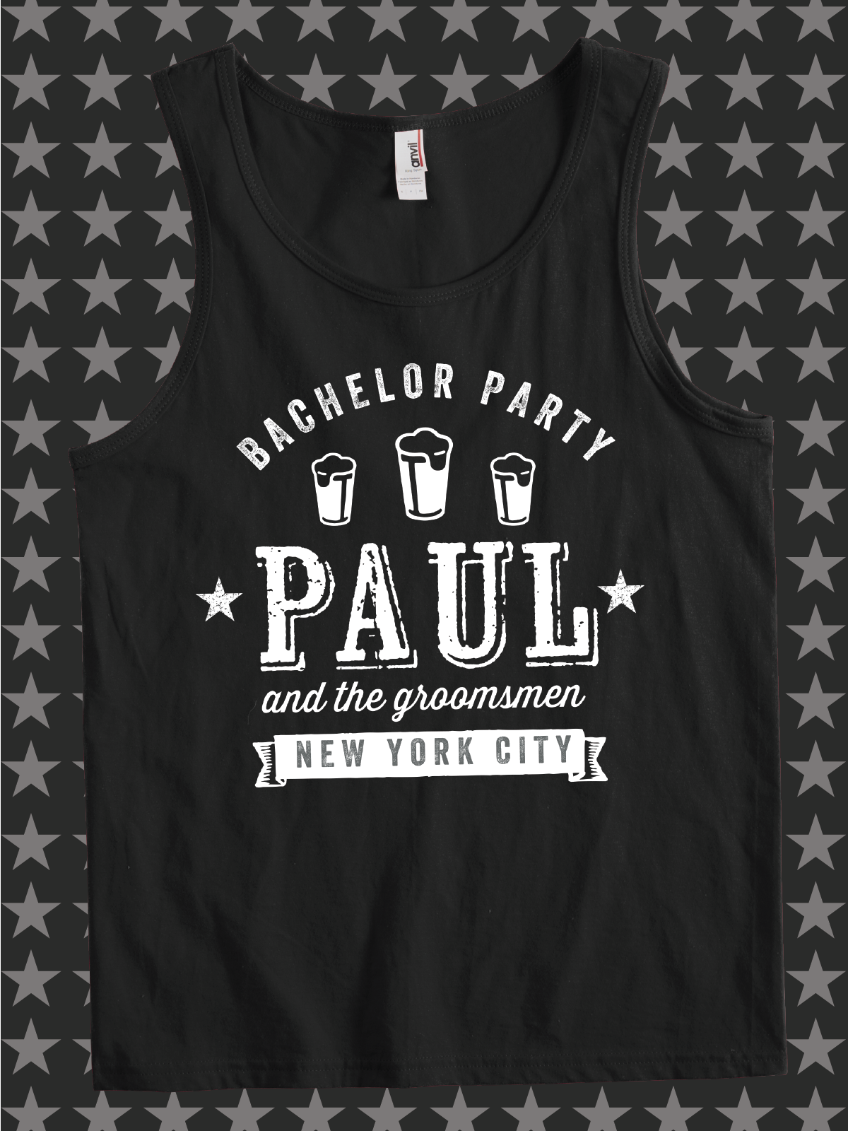 742bfd5931e14 Paul and the Groomsmen design idea for custom bachelor party t-shirts