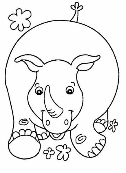 Coloriage Animaux De La Savane à Colorier Dessin à Imprimer