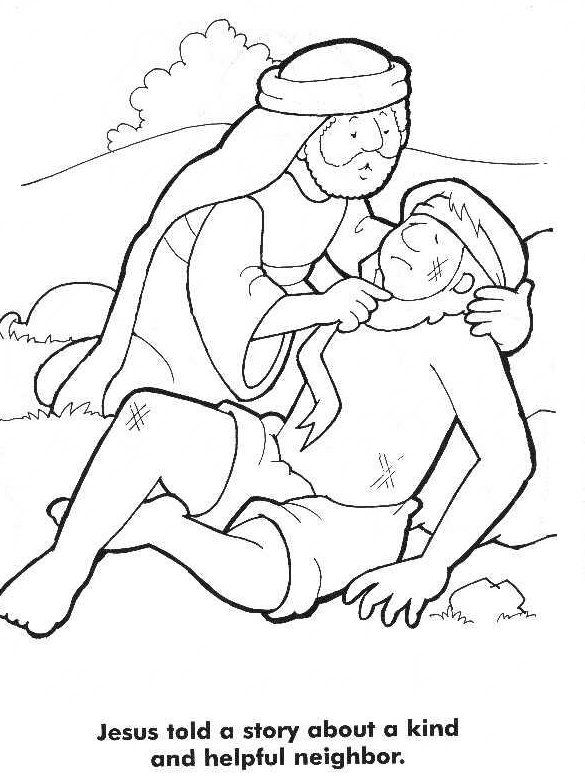 bible story coloring pages more good samaritan - Good Samaritan Coloring Pages