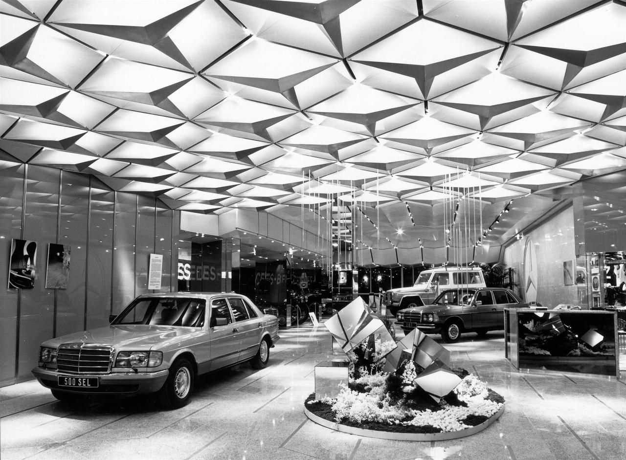 Mercedes showroom, Paris For more interior POP! go to www