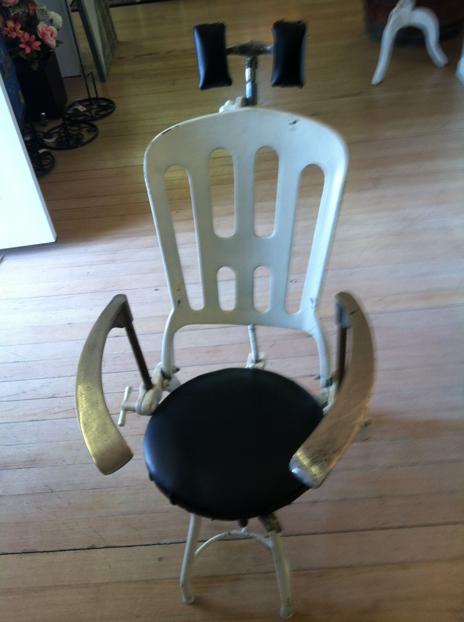 Antique Dentist Chairs Egg Chair Restoration Hardware This Is A Vintage Dental How Cool That Www