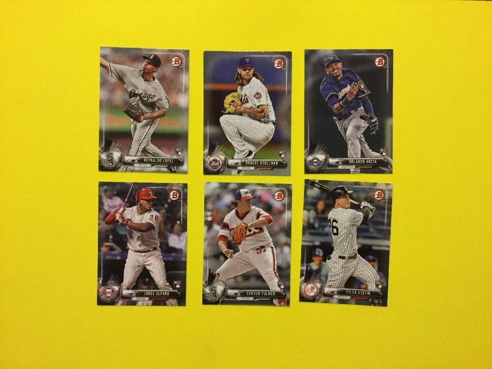 2017 bowman rookies lot of 6 no dups chicagowhitesox