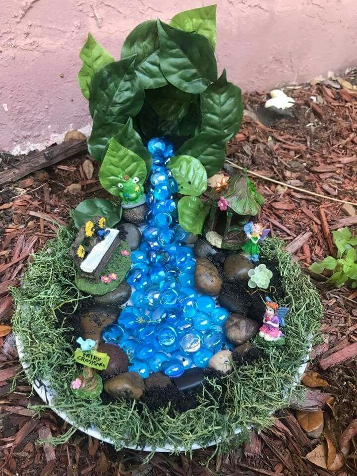 Fairy garden. Water fall   Fairy garden   Pinterest   Fairy, Gardens ...