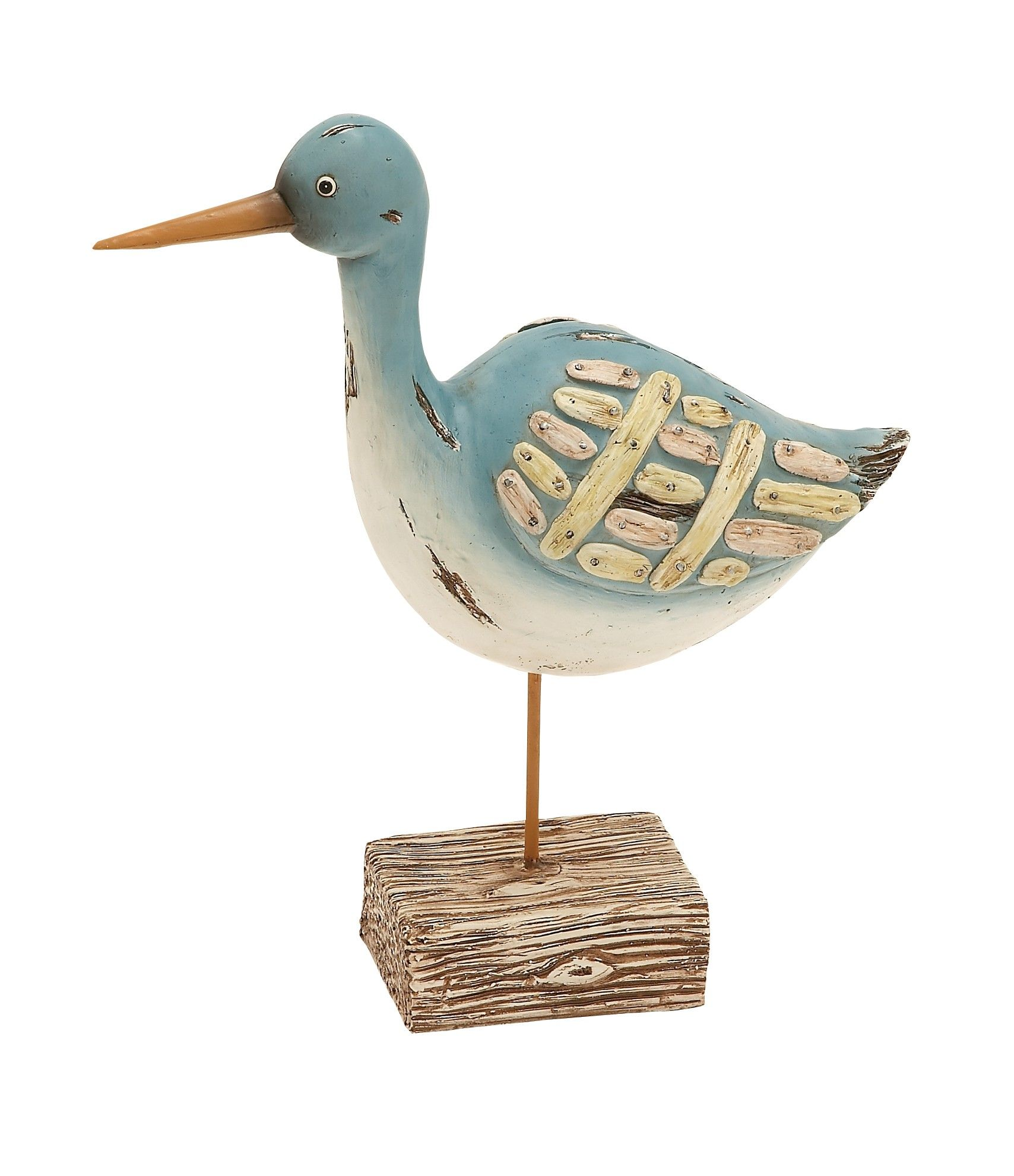 Modern Style The Lovely Polystone Sea Bird On Stand Home Decor 76318 Lamp Lighting