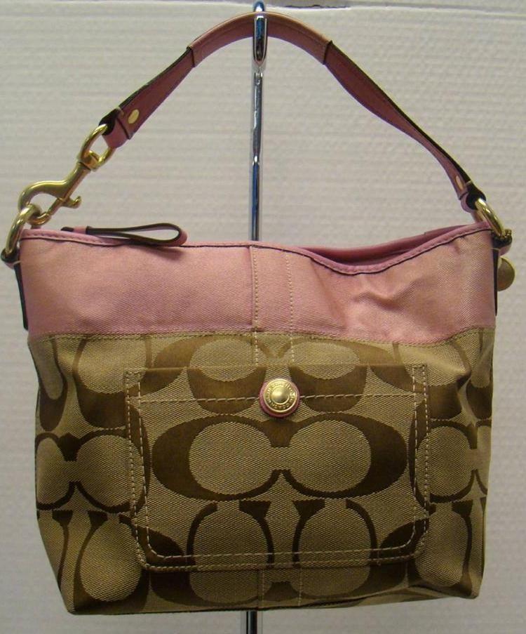 Coach Signature Strip Design Bag