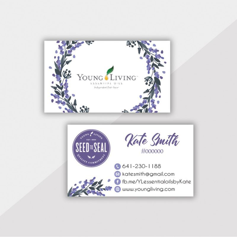 Personalized Young Living Business Card Essential Oil Cards Yl05