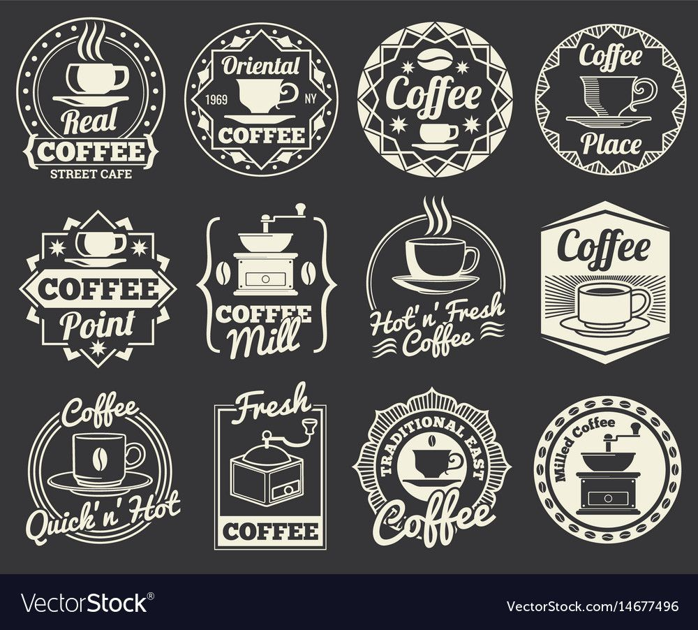 Vintage Coffee Shop And Cafe Logos Badges And Vector Image On Vectorstock Vintage Coffee Shops Coffee Shop Logo Vintage Coffee