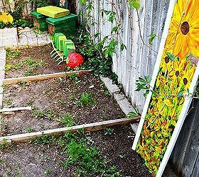 A Quirky Garden Made With Repurposed Items