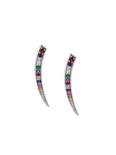Gisele For Eshvi 18kt white gold gemstone earrings Fast Express UDuaBZu