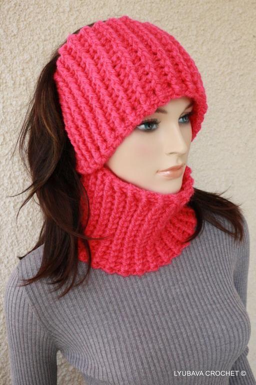 Fast & Easy Crochet Neck Warmer - Ear Warmer Pattern H ribbing (blo) then join to form ring