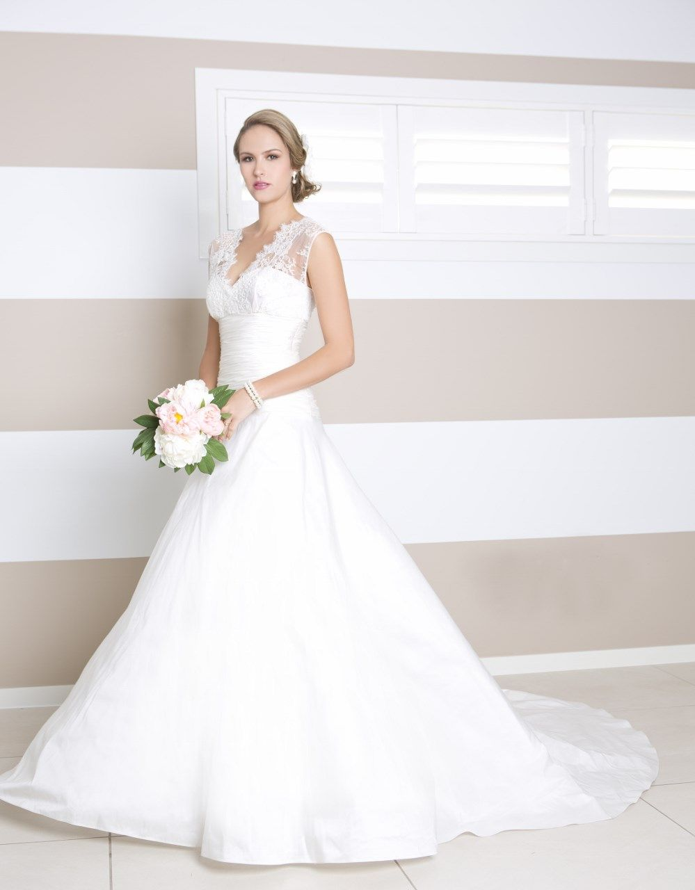 Beautiful ivory #wedding gown from Wendy Makin\'s #Couture collection ...