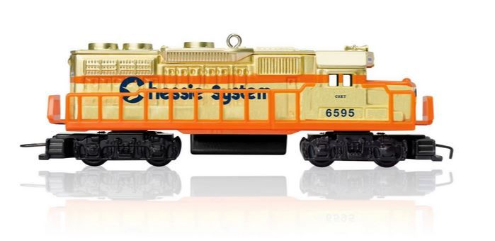 Lionel Chessie System Locomotive Train Ornament.  Available:  October 2015.  $19.95 Limited quantities.