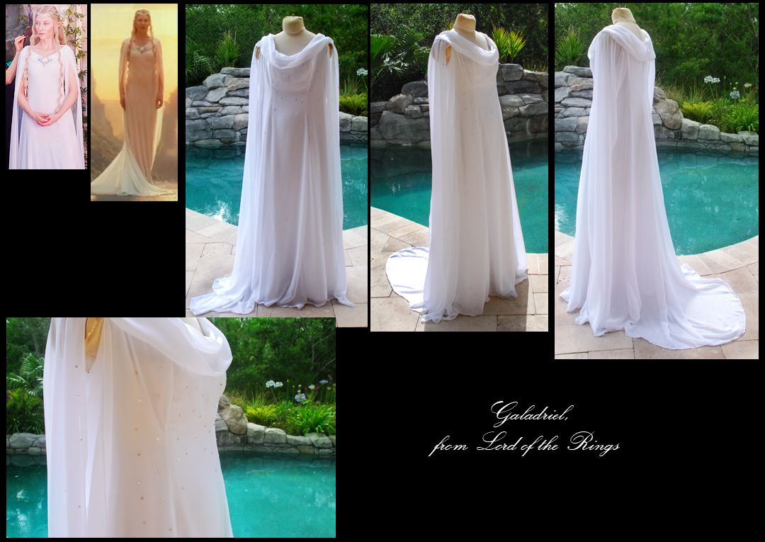 Galadriel gown from Lord of the Rings cosplay commission! | White ...