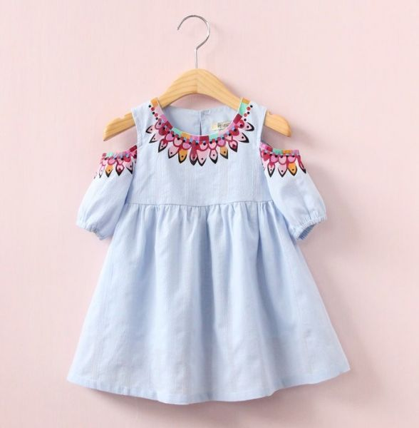 8a755f4d116b Vestido Menina Moda Primavera em Algodão – Casual (3-7 anos ...