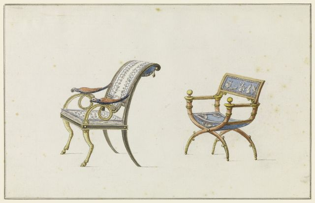 Drawing, Design for Two Chairs, 1790