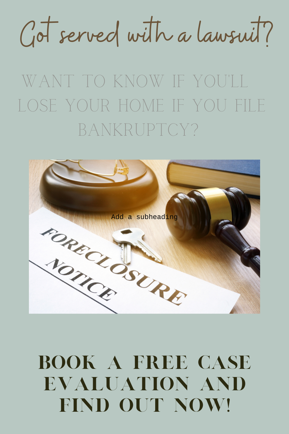 Have You Been Served With A Lawsuit In 2020 Bankruptcy Budget App In Law Suite