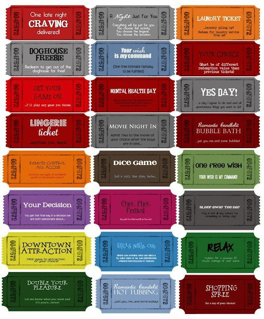 Coupon Templates - customizable printable coupons for whatever - free printable movie ticket template