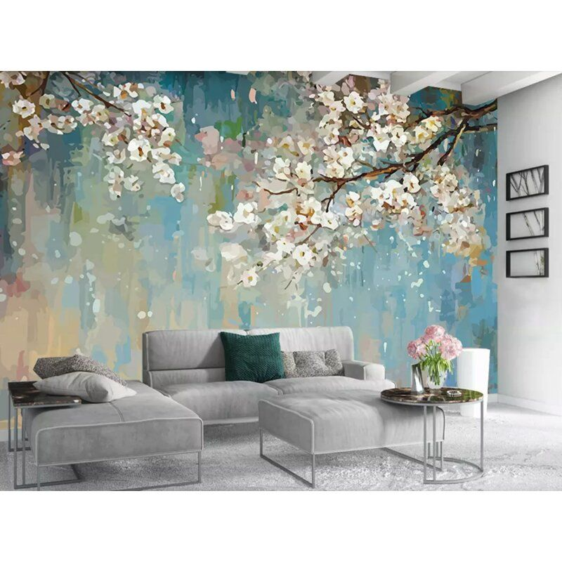 Middendorf Painting Blossom Floral Wall Mural in 2020