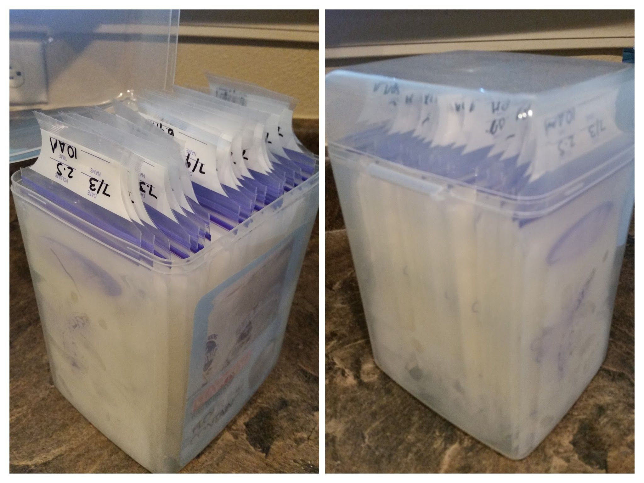 Breast Milk Storage Solution Flour storage container is perfect to