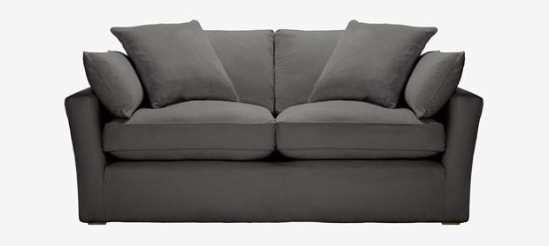 Caruso 3 Seater Sofa With Removable Covers In Metro Granite