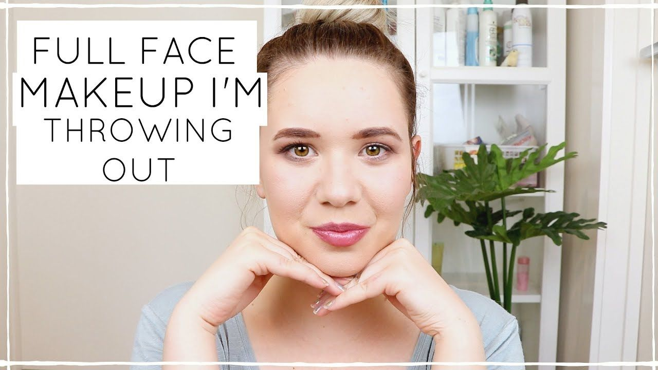 FULL FACE OF MAKEUP IM GOING TO THROW OUT    My least favourite products...