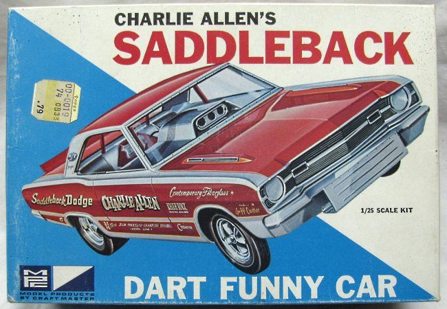 MPC 1/25 Dodge Dart Charlie Allen's Saddleback Funny Car, 718-200 plastic model kit