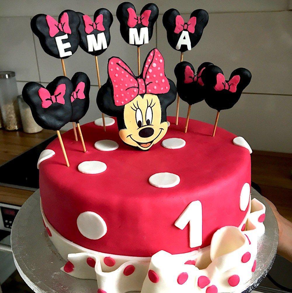 Minnie Mouse Torte Rezept Geburtstag Kuchen Madchen Kinder