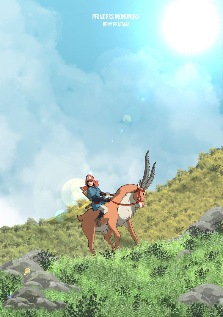 Princess Mononoke By Hanamurayosuke0 Deviantart Com On Deviantart ジブリ イラスト 風景の壁紙 綺麗なイラスト壁紙背景