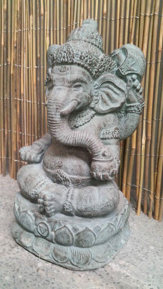 Balinese Ganesha Elephant Garden Statue Sculpture Cement 640 x 480