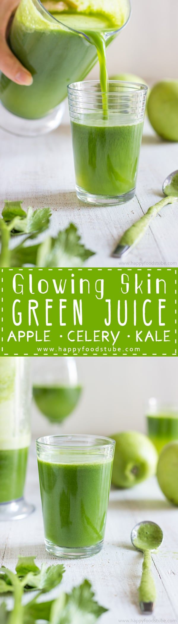 This Green Juice recipe is an easy way to give your skin the glow…