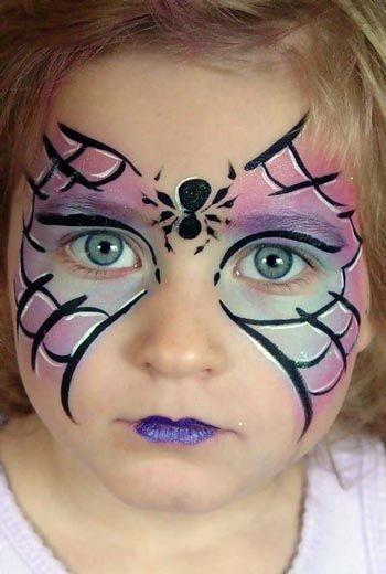 Maquillaje de Halloween niños Maquillaje de Araña caritas pintadas - maquillaje de halloween para nios