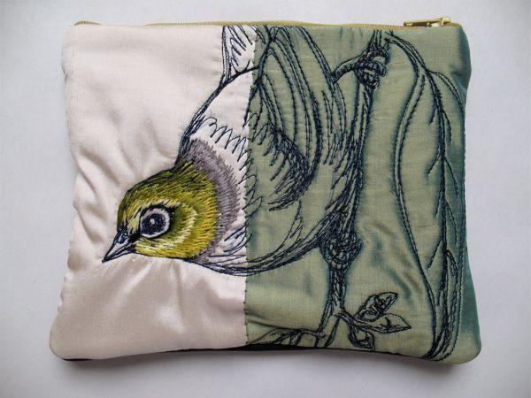 Tara Badcock Paris Tasmania Slivereye Purse Textile Art Embroidery Freehand Machine Embroidery Embroidery Inspiration