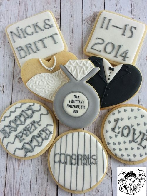 Nick & Brittany's Engagement Cookies