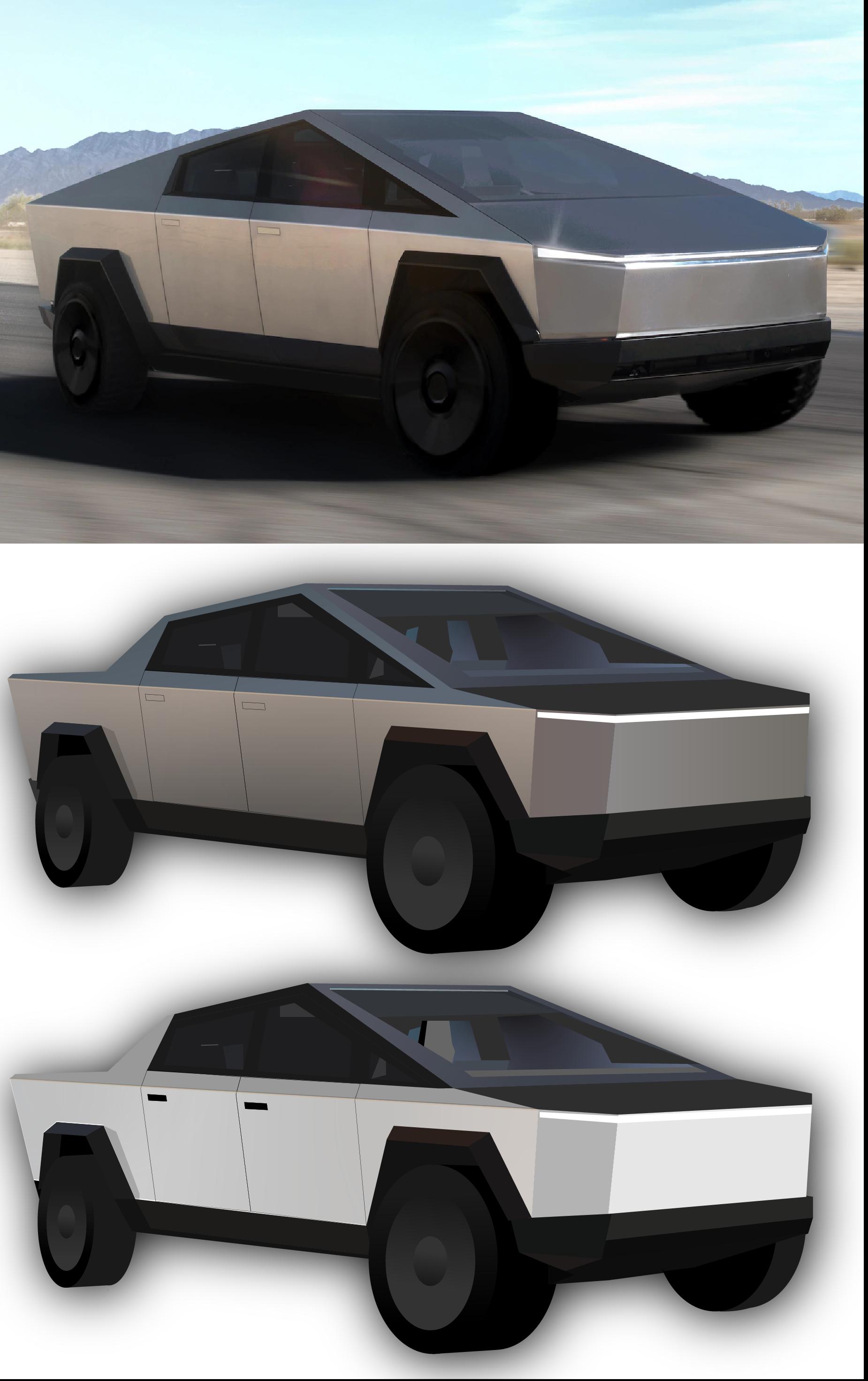 I Redesigned The Cybertruck For Fun Using Adobe Illustrator Tesla Trucks New Trucks