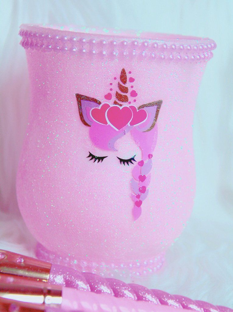 Photo of Pink unicorn princess brush holder