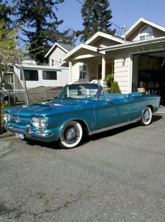 3 1964 Chevy Corvair Convertible Mint Show Winner