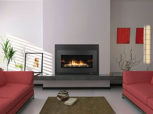 Heat Glow Cosmo I30 Modern Gas Fireplace Insert Direct Vent