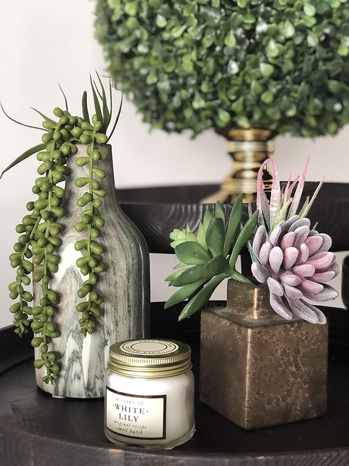 16 pcs various 1.6″- 6.7″ artificial succulent plants including stem, this is the ultimate faux greenery bulk bundle. Use it to decorate a wreath, a planter, a terrarium, or simply use in individual decorative mini pots even bookshelf and DIY decoration. With these new edition improved realistic looking succulents no one but just you will know they are artificial... #ArtificialFlowers #DecorationBouquets #ArtificialPlants #FakePlants #HomeDecor #ad