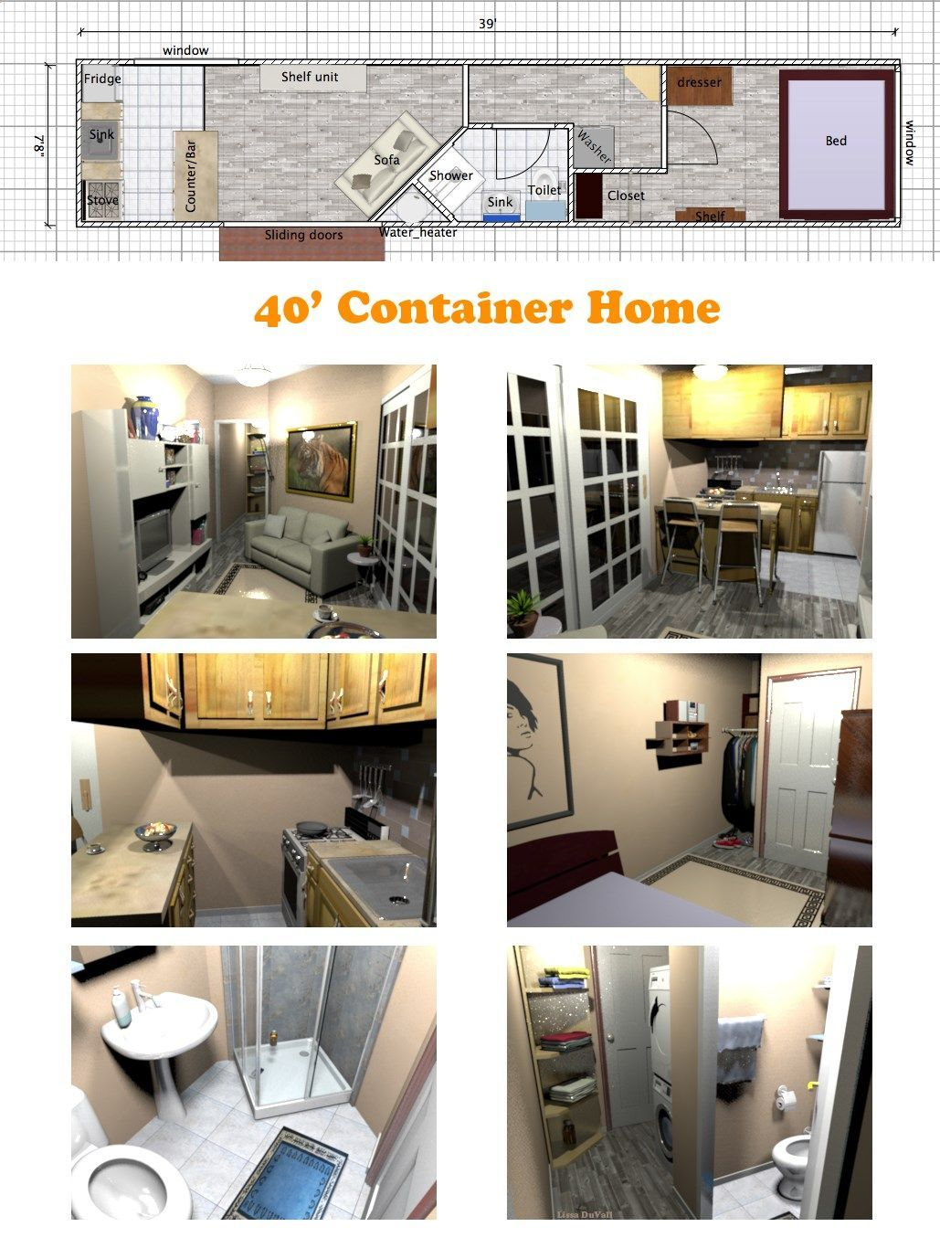 32 Ideas Container House Plans Simple For A Very Space Efficient Floor Plan For A Container H Container House Plans Container House Building A Container Home