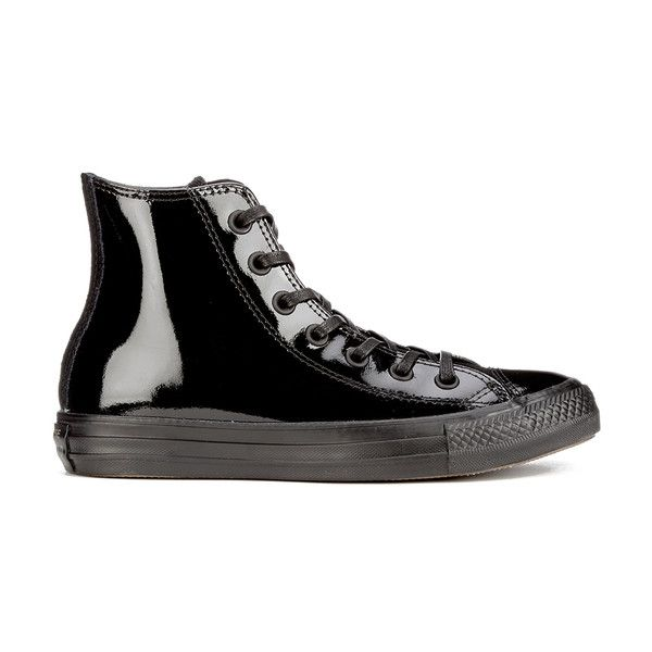 Black patent leather sneakers, Black