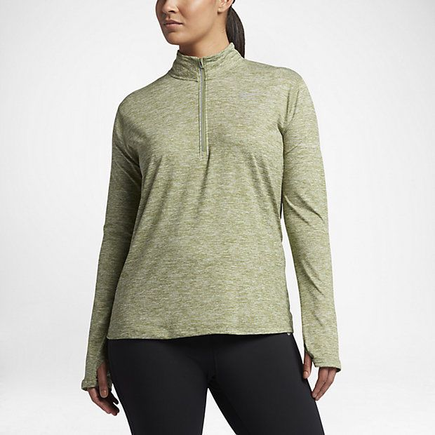 712b6ad875013 Nike Dry Element Half-Zip Womens Running Top Plus Size 2X Palm Green 747058  387  Nike  ShirtsTops