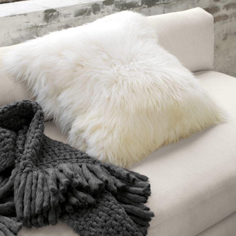 throw sheepskin cover cushioin sheep fur pillow cushion wool pink
