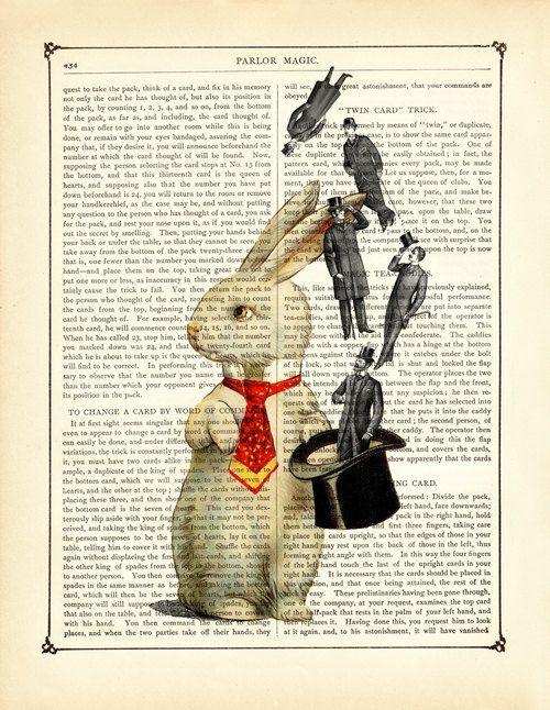 Rabbit Magician Top Hat Gentlemen Easter by curiousprintery