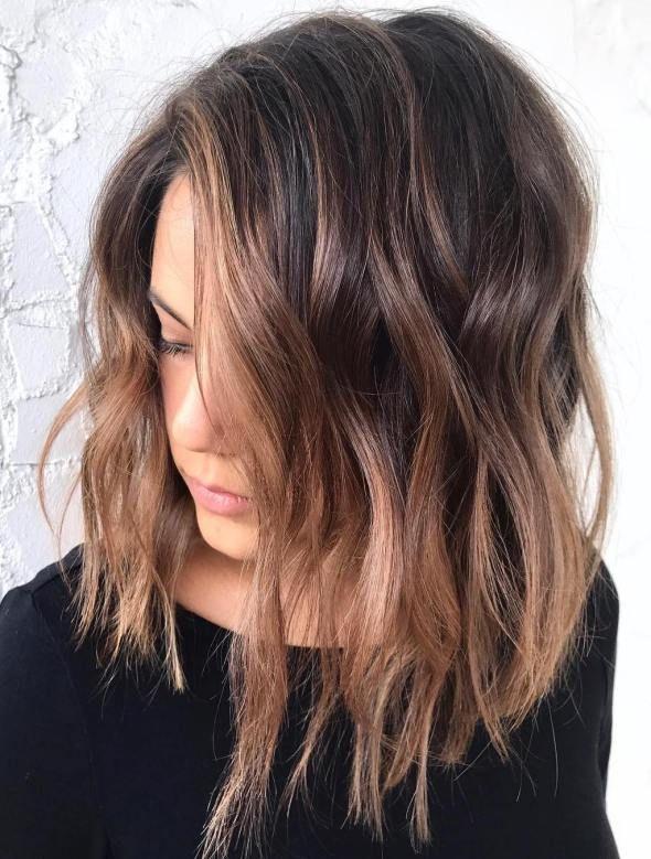 20 natural looking brunette balayage styles hair. Black Bedroom Furniture Sets. Home Design Ideas