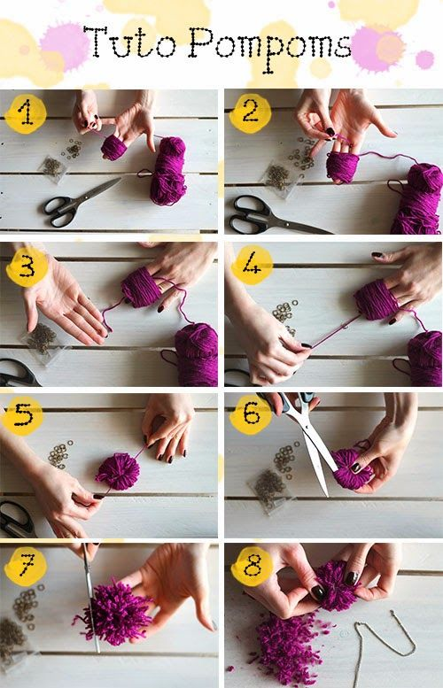 DIY  Comment Faire Un Pompom En Laine Sans Carton ? Crochet And Craft