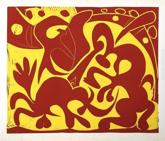 Pablo Picasso, Pique (Rouge et Jaune) (5) 1962