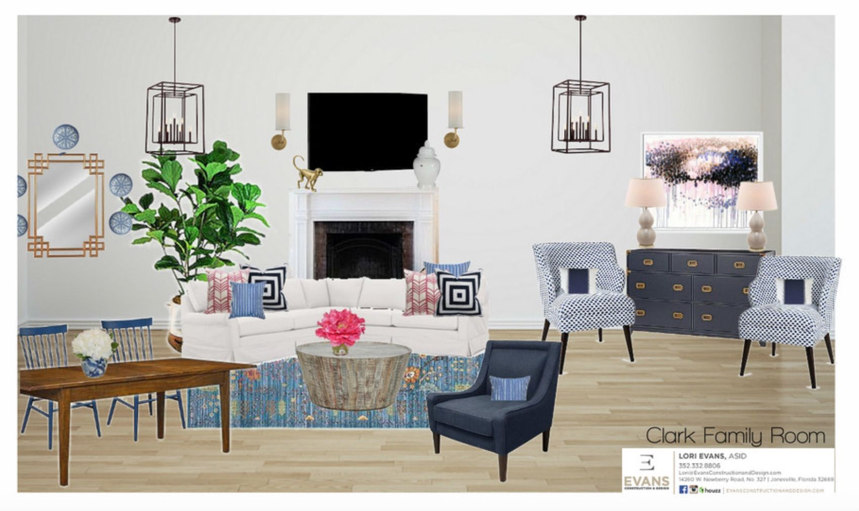 Attrayant How Much Does It REALLY Cost To Hire An Interior Designer? U2013 The Evans Edit  Design Board By Evans Construction And Design Showcasing A Living Room With  ...
