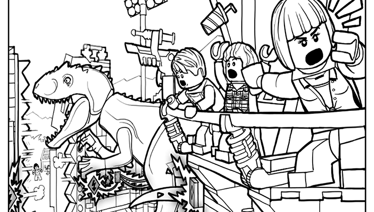 LEGO Coloring Page 2 Lego coloring pages, Dinosaur