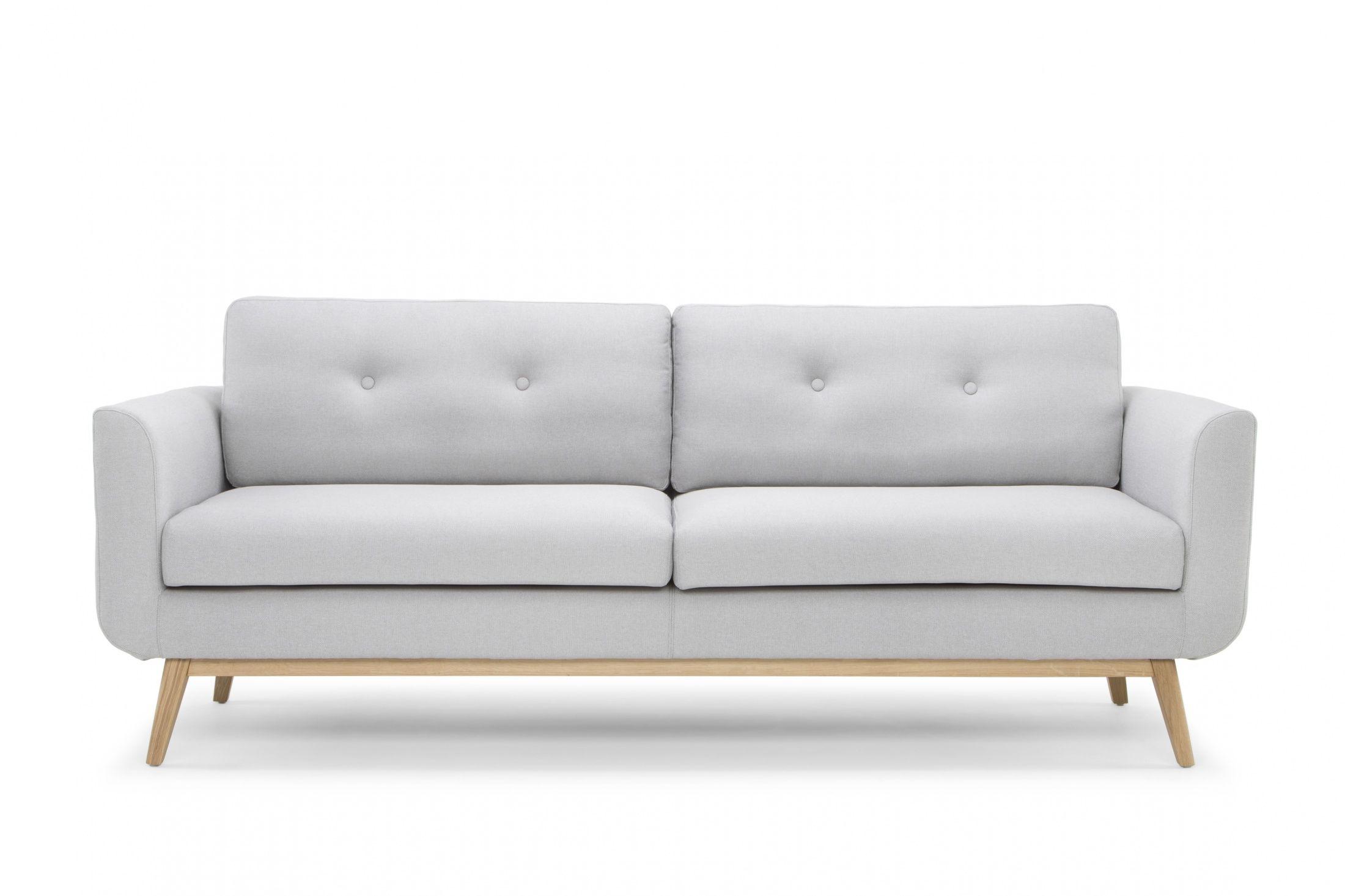 Freya Light Grey 3 Seat Sofa With Wood Legs Front View Sofa Design Light Gray Sofas Sofa