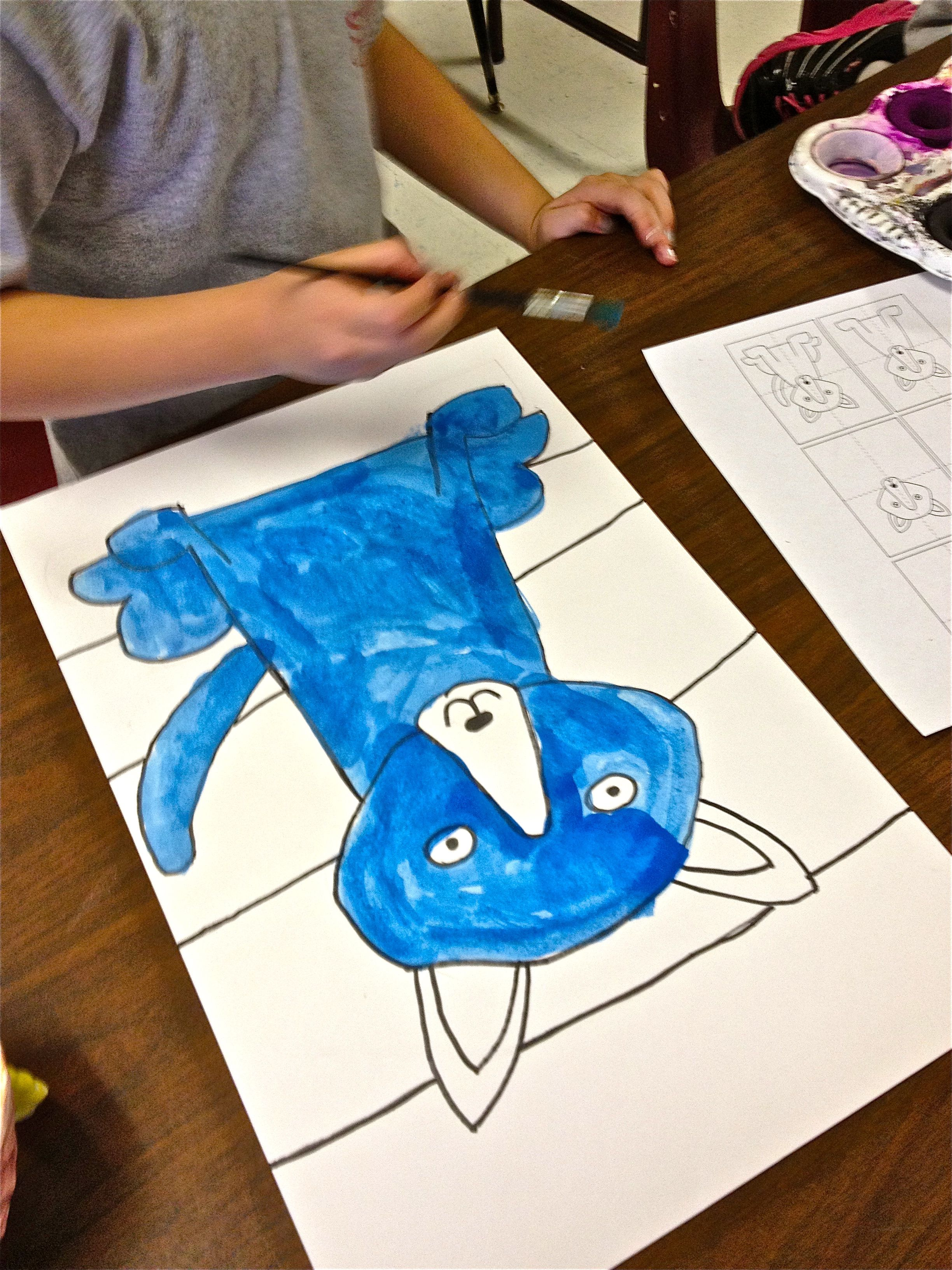 Blue dog art lesson blue dog art art lessons